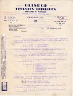 Lettre Facture (1949) -  OLISDOR - Produits Chimiques - Spécialité De Parfumerie - CASTRES (Tarn) - France