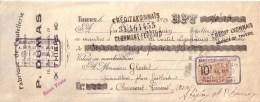 PUY DE DÔME - THIERS - FABRIQUE DE COUTELLERIE - P. DUMAS - MANDAT - 1924 - Lettres De Change