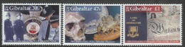 Gibraltar 2005 Set/3 Anniversaries Including Police, Museum -prehistoric  #1018-20 - Gibraltar
