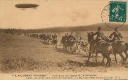 """AVIATION - DIRIGEABLES - """"L'ADJUDANT VINCENOT """" Construit En Tissus HUTCHINSON Aux Manoeuvres Du Sud Ouest 1913 - Dirigibili"""