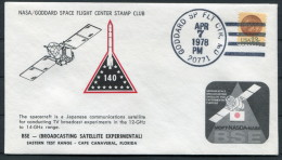 1978 USA Goddard Space Flight Centre NASA Japanese TV Satellite Rocket Cover - United States