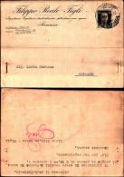 240)cart.postale.viaggiata Pubblicità Filippo Reale E Figli.da Siracusa Ariposto Affr.30cent.imperiale24/06/41 - 1900-44 Vittorio Emanuele III