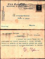 243)cart.postale.viagg  Pubblicità  Ugo Rafanelli Firenze . A Riposto Affr.30cent.imperiale  15.7.32 - Storia Postale