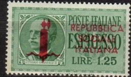 PIA -  ITALIA  - 1944 : Espressi Del 1932-33 Soprastampati   - (SAS 21-22) - 4. 1944-45 Repubblica Sociale