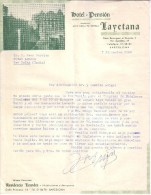 ESPAGNE - BARCELONA - BARCELONE - HÔTEL PENSION LAYETANA - LETTRE - 1960 - Espagne