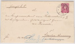 GERMANY POLAND 1883 CPL. FOLD.LETT. FRANKED BROMBERG TO SULLENCZYN - Alemania