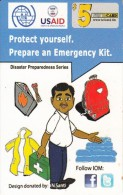 MICRONESIA - USAID, Disaster Preparedness Series, FSM Tel Prepaid Card $5, Used - Micronesië