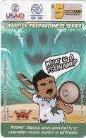 MICRONESIA - USAID, Disaster Preparedness Series, FSM Tel Prepaid Card $5, Used - Micronesia