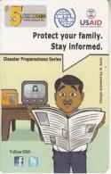 MICRONESIA - USAID, Disaster Preparedness Series, FSM Tel Prepaid Card $5, Used