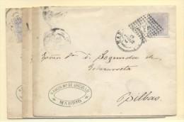 MADRID A BILBAO Nº 204 MATºPUNTO Y ESTRELLA S/PLIEGO TREBOL - 1872-73 Reino: Amadeo I