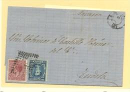 BARCELONA A TUDELA(NAVARRA) Nº 175 I. GUERRA 188 MATº RAMBO PUNTO Y ESTRELLA - 1872-73 Royaume: Amédée I