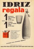 # ACQUA IDRIZ 1950s Advert Pubblicità Publicitè Reklame Food Drink Mineral Water Eau Agua Wasser - Posters