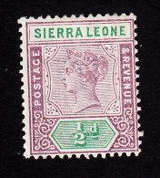 Sierra Leone, Scott # 34, Mint Hinged, Queen Victoria, Issued 1897 - Sierra Leone (...-1960)