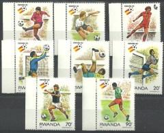 RWANDA 1114/1121 Xx ( COB ) COTE : 7.00 EURO - 1980-89: Ungebraucht