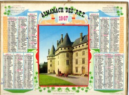 CALENDRIER ANNEE 1967 - ALMANACH DES POSTES ET DES TELEGRAPHES -  DEPARTEMENT DU VAR -   EDITEUR OLLER - Calendriers