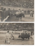 CORRIDA  -  BEZIERS  -  LOT DE 4 CARTES PHOTO,   VOIR SCAN   MAGNIFIQUE - Corrida