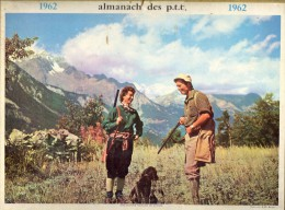 CALENDRIER ANNEE 1962 - ALMANACH DES POSTES ET DES TELEGRAPHES -  DEPARTEMENT DU VAR -   EDITEUR OLLER - Calendriers