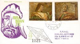 San Marino 1969 - FDC Venetia, Dipinti Del Bramante. Timbro Arrivo Con Affrancatura - FDC