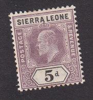 Sierra Leone, Scott # 71, Mint Hinged, King Edward VII, Issued 1903 - Sierra Leone (...-1960)