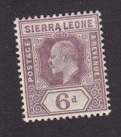 Sierra Leone, Scott # 72, Mint Hinged, King Edward VII, Issued 1903 - Sierra Leone (...-1960)