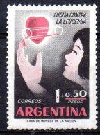 ARGENTINA 1958 Leukaemia Relief Campaign - 1p.+50c Child Receiving Blood  MH - Argentine