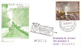 """1969  San Marino - FDC Capitolium   """"Veduta Del Molo Di Rimini"""" - FDC"""