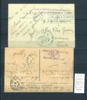 Hopitaux Militaires Guerre 14- 18 ; 2 Piéces - Postmark Collection (Covers)