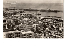 --C P S M-C P M---GIBRALTAR--south View Of Town--bateaux Militaire ----voir 2 Scans - Gibraltar