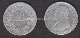 *lot N° 10088**VATICAN - 10 SOLDI *PIVS IX PON. MAX A (XXII) - ANNEE: 1867- ARGENT-SILVER - Vatican