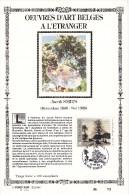 Carte Souvenir FDC Soie - COB 2462 - Sonstamp N°x FR - Série 575-577 - Tirage N°73 Sur 400 - Œuvres D'art Belges à L'étr - Cartes Souvenir