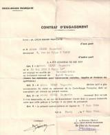 CONTRAT ENGAGEMENT CROIX ROUGE FRANCAISE 1944 PARIS MANIPULATRICE