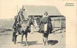 Pays Div- Amerique Du Sud  Ref B313- Terre De Feu -patagonie-argentine -chili -caciques Aruacanos - - Cartes Postales