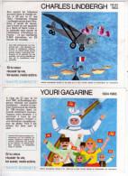 LOT 2 BUVARDS YOURI GAGARINE LINDBERGH AVIATION ESPACE DESTIN EXEMPLAIRE - Lots & Serien