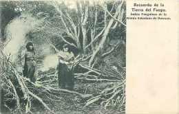 Pays Div- Amerique Du Sud  Ref B312- Terre De Feu -patagonie-argentine -chili -indias Fueguinas - Indiens - - Cartes Postales