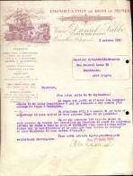 Factuur Facture Brief Lettre  - Import Bois De Mines Daniel Sabbe - Bruxelles 1923 - Factures & Documents Commerciaux