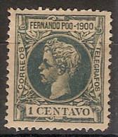 Fernando Poo 079 (*) Alfonso XIII. 1900. Sin Goma - Fernando Po