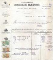 Factuur Facture Brief Lettre  - Ets Emile Sauté - Whisky Champagne - Bruxelles 1955 - 1950 - ...