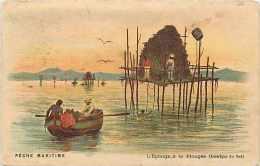 Pays Div- Amerique Du Sud  Ref B299-  Peche Maritime - L Eponge , A La Plongée - Cartes Postales