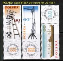 POLAND   Scott  # 1387-94**  VF MINT NH - 1944-.... Republic