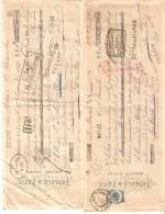4 LETTRES DE CHANGE ITALIE 1885 ET 1887 - Bills Of Exchange