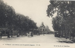 A Hanoi.  Une Avenue Avec Les Grands Magasins.  Horsecarts And Tramway  Vietnam   S-966 - Vietnam