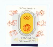 BULGARIA  -  1972  Olympic Games  Miniature Sheet  Unmounted Mint - Bulgaria