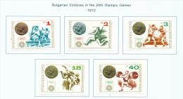 BULGARIA  -  1972  Olympic Games  Medal Winners  Mounted Mint - Bulgaria
