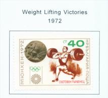BULGARIA  -  1972  Olympic Games  Medal Winners (overprint)  Mounted Mint - Bulgaria