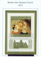 BULGARIA  -  1973  Murals From Boyana Church  Miniature Sheet  Unmounted Mint - Bulgaria