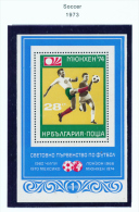 BULGARIA  -  1973  Football World Cup  Miniature Sheet  Unmounted Mint - Bulgaria