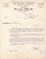Facture Lettre (1946) - Fils à  Tricoter Et à Repriser - Xavier FELS - HIELLE Par VECOUX (Vosges) - France