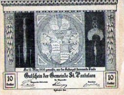 Gutschein 10 Heller Marktgemeind - [ 3] 1918-1933 : República De Weimar