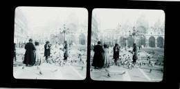 CLICHE VERRE STEREOSCOPIQUE POSITIF   DEBUT XX°    VENISE  ITALIE   1901 - Plaques De Verre