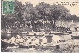 23497 FONTENAY France  Les Bords De La Marne Les Joutes à La Lance -150 E.M. Aviron Bateau Prends Garde Toi -